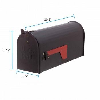 "spec-<PRE>""MAIL"" Black Rural Mailbox Solid Brass </PRE>"