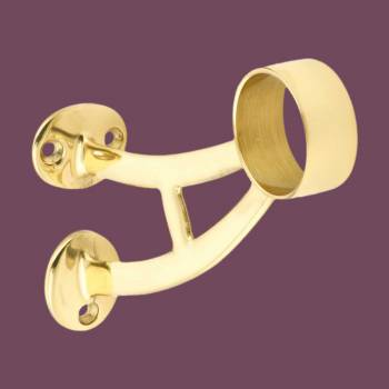 <PRE>Bar Bracket Polished Solid Brass Wall Bracket Fit 1.5inch Tube </PRE>zoom2