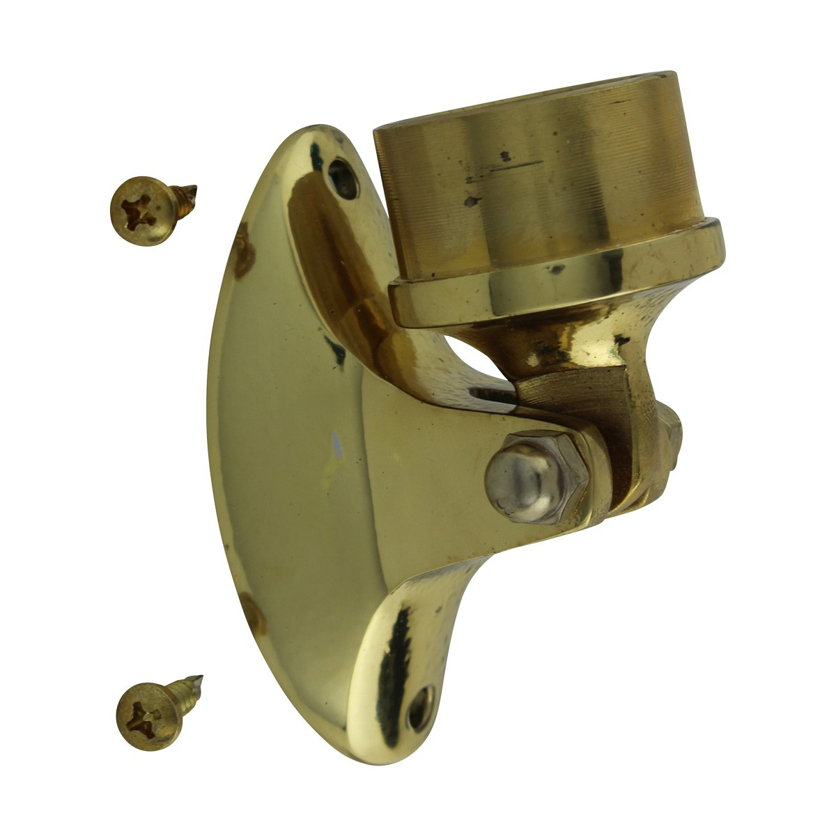 Polished Solid Brass Combination Bar Bracket 1.5 OD Rail Bar Mount Foot Rail Bar Foot Rail Tubing Brass Bar Bracket