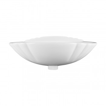 <PRE>White China Pedestal Sink Bathroom Shell Shape 23inch W x 33 1/8&quot; H</PRE>zoom4