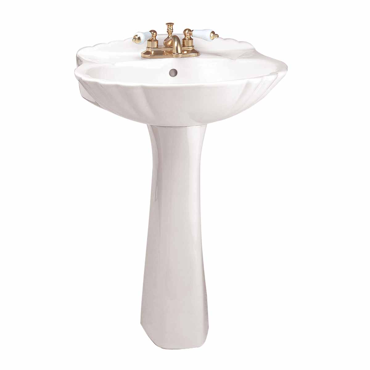 Bathrooms Pedestal Sink White China Sheffield Deluxe