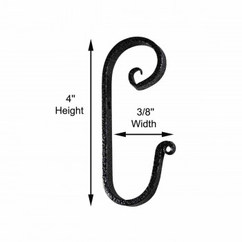 spec-<PRE>Robe Hook Silver Vein Hand Forged Wrought Iron </PRE>