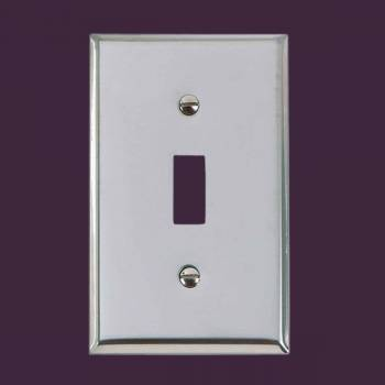 <PRE>Switchplate Chrome Single Toggle/Dimmer </PRE>zoom2