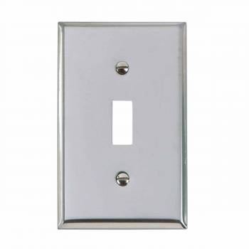 <PRE>Switchplate Chrome Single Toggle/Dimmer </PRE>zoom1