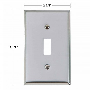 spec-<PRE>Switchplate Chrome Single Toggle/Dimmer </PRE>