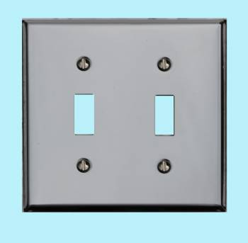 <PRE>Switchplate Chrome Double Toggle </PRE>
