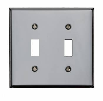 Double Toggle Switch PLate Chrome Plated