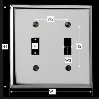 spec-<PRE>Switchplate Chrome Double Toggle </PRE>