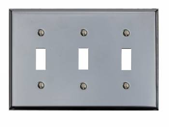 Switchplate Chrome Triple Toggle Switch Plate Wall Plates Switch Plates