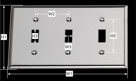 spec-<PRE>Switchplate Chrome Triple Toggle </PRE>