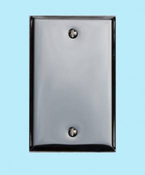 <PRE>Switchplate Chrome Single Blank </PRE>zoom2
