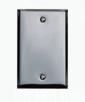 Switchplate Chrome Single Blank 19015grid