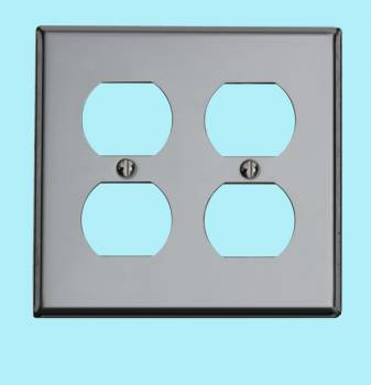 <PRE>Switchplate Chrome Double Outlet </PRE>zoom2