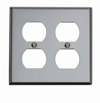 <PRE>Switchplate Chrome Double Outlet </PRE>zoom1