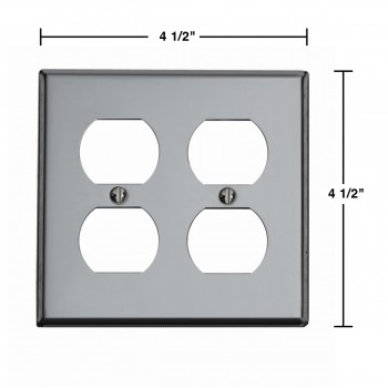 spec-<PRE>Switchplate Chrome Double Outlet </PRE>
