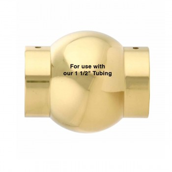 spec-<PRE>Brass Ball Joint Fitting1.5&quot; OD Bar Rail Connector </PRE>