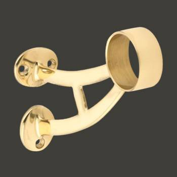 Brass Wall Mount Bar Bracket Fitting 1.5 Bar Rail Bar Mount Foot Rail Bar Foot Rail Tubing Brass Bar Bracket