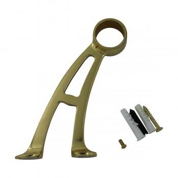 <PRE>Brass Wall Mount Bar Bracket Fitting 1.5inch Bar Rail </PRE>zoom3