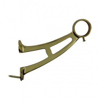 <PRE>Brass Wall Mount Bar Bracket Fitting 1.5inch Bar Rail </PRE>zoom5