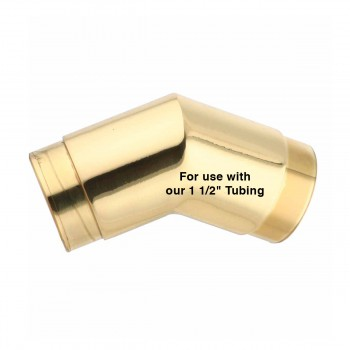 spec-<PRE>Brass Flush Elbow Fitting 135 degree 1.5&quot; Bar Foot Rail </PRE>