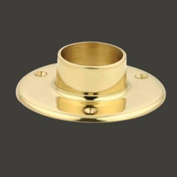 Solid Brass 5 Wall Flange Fitting 1.5 OD Bar Foot Rail Bar Bracket Bar Hardware Mounting Brackets