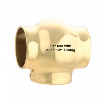 spec-<PRE>Tubing Connector RSF Brass Ball T Connector Fit 1.5&quot; Tube </PRE>