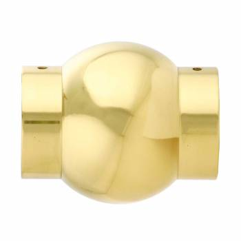 <PRE>Polished Solid Brass Ball Joint Fitting 2inch Tubing Connector </PRE>zoom1