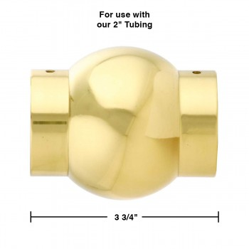 "spec-<PRE>Polished Solid Brass Ball Joint Fitting 2"" Tubing Connector </PRE>"