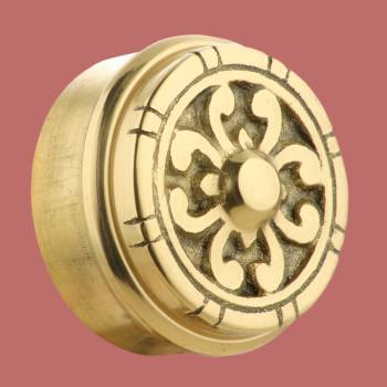 <PRE>Fits 2 inch Polished Solid Brass Fits 2 in. RSF Brass Decorative End P</PRE>zoom2