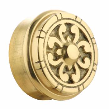 Fits 2 inch Polished Solid Brass Fits 2 in RSF Brass Decorative End P