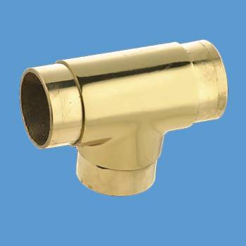 <PRE>Lacquered Brass TEE Flush Fitting 2inch Bar Rail Connector </PRE>zoom2