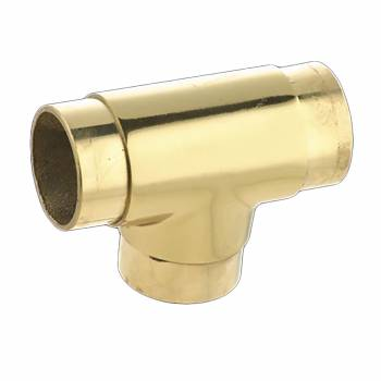 <PRE>Lacquered Brass TEE Flush Fitting 2inch Bar Rail Connector </PRE>zoom1