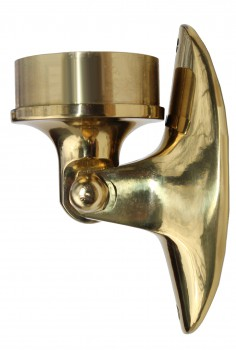 Lacquered Solid Brass Saddle Bracket Plug 2 OD Bar Rail Brass Saddle Bracket Saddle Plug Bracket Saddle Bracket Bar Rail