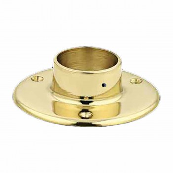5 Floor Flange Solid Brass Fits 2 Tubing Bracket Bar Bracket Bar Hardware Mounting Brackets