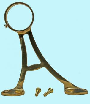 <PRE>Lacquered Brass Floor Bracket Fitting 2inch Bar Foot Rail </PRE>zoom2