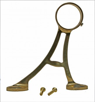 <PRE>Lacquered Brass Floor Bracket Fitting 2inch Bar Foot Rail </PRE>zoom4