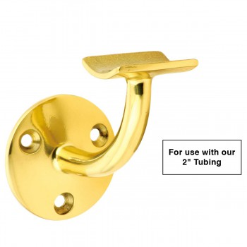 "spec-<PRE>Lacquered Brass Bar Bracket Fitting 2"" Armrest Rail Holder </PRE>"