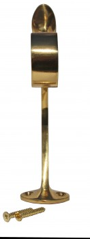 <PRE>Lacquered Brass Floor Combination Bracket Fitting 2inch Rail </PRE>zoom3