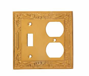Victorian Switch Plate Toggle Outlet PVD Solid Brass 19117grid