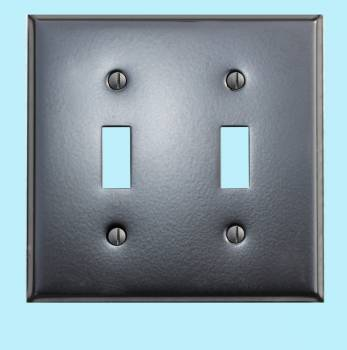 Switchplate Black Steel Double Toggle Classic Switch Plate Wall Plates Switch Plates