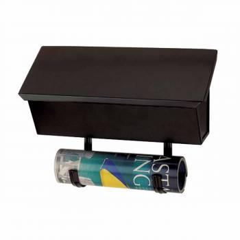 Mailboxes Solid Brass Black Wall Mailbox 16