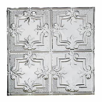 Tin Ceiling Tiles Fleur-de-Lis Crests 2 x 2 ft.