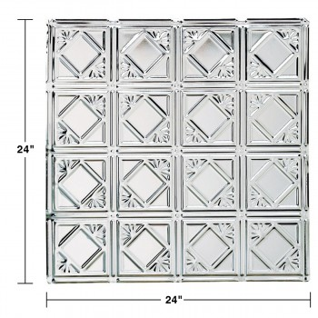 spec-<PRE>Ceiling Tiles Tin Plated Steel Diamond 2' x 2' </PRE>