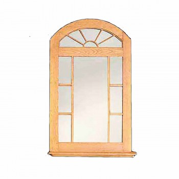 Mirror Windowpane Arch Unfinished Pine Kit