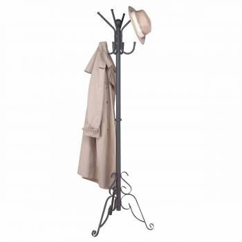 Coat Rack Stand Black Aluminum Hall Tree 69 1/2 Inch19241grid