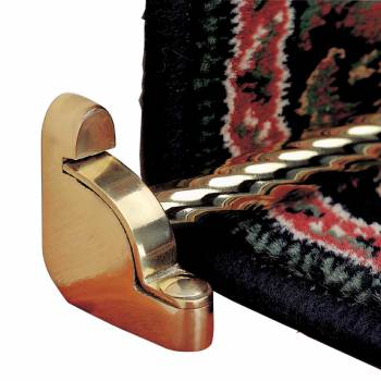 Carpet Rods Bright Brass Tubing Spiral Flat Carpet Rods for Stairs19243grid