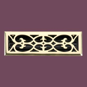 Heat Register - Register Brass Plate Over Steel 