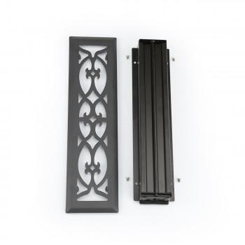 <PRE>Floor Heat Register Louver Vent Steel 2 1/4 x 12 Duct </PRE>zoom1