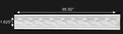 "spec-<PRE>Crown Molding White Urethane  79 3/4"" L  Emily Ornate </PRE>"