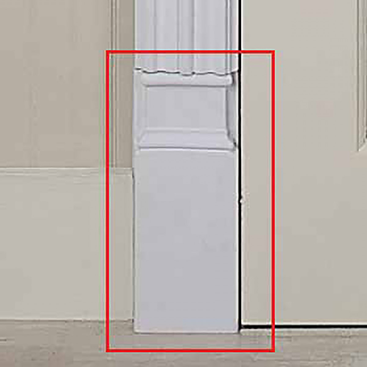 & Door Trim White Urethane Plinth 9 1/2